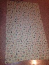 "New listing Vtg 1 panel Curtain 1960 Era Pink Aqua Guc Mid Century Modern 58 X 34.5"""