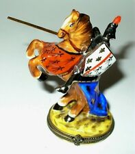 LIMOGES BOX- KNIGHT IN SHINING ARMOR - HORSE & LANCE - LE 27/750 - PIERRE ARQUIE