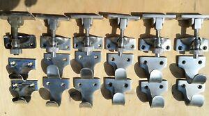 SASH WINDOW LOCKS LATCH SET METAL CHROME ARM CASH & PLATE & HAND GRIPS SET OF
