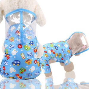 New Dog Raincoat Waterproof Pet Rain Coat Rain Wear Clothes Hooded Reflective