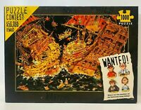 WANTED PUZZLE CONTEST 1000 Piece Puzzle 37050 Heye 2003 Gemstone Gang RARE