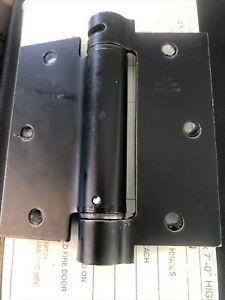"One Pair Bommer 3 1/2"" R-4667 Black Heavy Duty Hinges In Box"