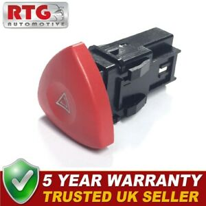 Hazard Warning Switch Button Fits Renault Laguna Espace Trafic Vauxhall Vivaro