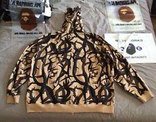A Bathing Ape BAPE Vintage Zip Front Hoodie Sweatshirt Hoody Shirt RARE XXL Nice