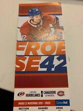 unused season hockey tickets Canadiens featuring Byron Froese 2018/2019