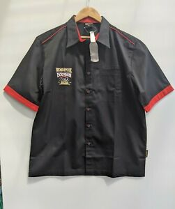 Men's Promotional Woodstock Burbon Black Collared Bowling Shirt XL BNWT!