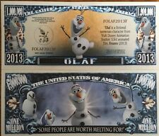 Disney Olaf Million Dollar Bill ( Frozen )