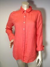 J.CREW 6 The perfect shirt BUTTON-DOWN SHIRT IN Coral linen 42841