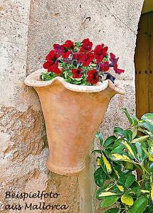 ❀ Wandtopf Terrakotta Mallorca Blumentopf Valldemossa Original - Handarbeit !!