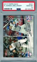"2017 Topps Now #321 ""Aaron Judge/ Cody Bellinger"" RC  @@LOOK@@ PSA 10  RC Combo."