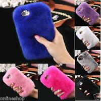Case for iphone6 6s 7/Plus - Warm Fluffy Villi Fur Plush Wool Bling Case Cover