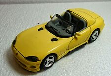 Burago 1/24 Scale Dodge Viper RT/10 (1993) Yellow unboxed