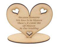 Wedding Heart remembering lost loved ones, Wedding wording, embellishment,
