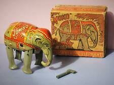 MOKO LESNEY VINTAGE TINPLATE VERY RARE BOXED C/WORK JUMBO WALKING ELEPHANT 1950