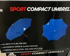"""New!! Adidas 3stripe Sport Compact 46"""" Umbrella!!!""""Auto Open And Close""""!!!"""