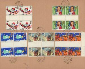 (74215R) GB FDC GUTTER PAIRS Christmas Distington CDS 1981