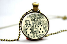 Alice in wonderland Jewelry. Alice Necklace .Alice in wonderlandf art pendant