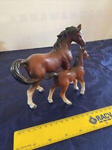 Vintage Porcelain Horse and Foal, marked Japan c1950s