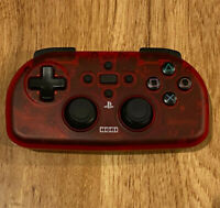 HORI PS4-133 PS4 PlayStation 4 WIRELESS Controller Light Clear Crimson Red/Black