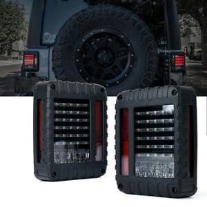 Xprite LED Tail Lights w/ Turn Signal/Brake/Reverse for 07-18 Jeep Wrangler JK