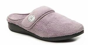 Vionic Sadie Women's Adjustable Strap Orthotic Slippers Mauve - 8