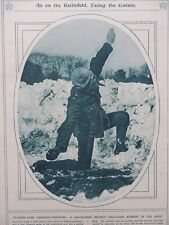 1917 PH HELMET GAS MASK GRENADE THROWING; FEEDING THE FRONT WWI WW1