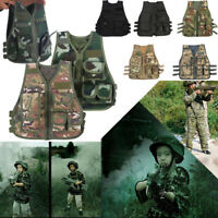 Outdoor Children Tactical Security Waistcoat Game Training Protective Vest TP