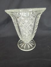 VINTAGE PRESSED GLASS CELERY VASE ~ FLOWER / POSY VASE