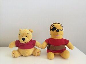 Disney Winnie The Pooh Bear Plush Toys - 2pk Good Condition & Bonus Disney Book
