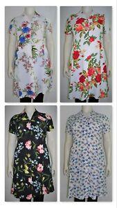 Women`s cap sleeve  button down collar printed dress(Plus Sizes, 14-28)