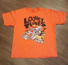 Retro Looney Tunes Orange Xl T-shirt Bugs Taz Daffy Speedy Leghorn