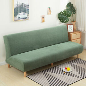 Jacquard Sofa Bed Cover Armless Futon Slipcover Furniture Protector Removable