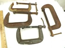 4 C CLAMPS - BRINK & COTTON & CINCINNATI TOOLS - MADE IN USA - VINTAGE CLAMPS