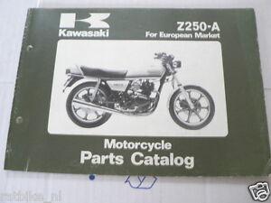 KAWASAKI Z250-A EUROPEAN MARKET PARTS CATALOG ORIGINAL FACTORY BOOK  1981