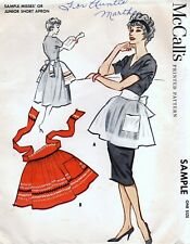 McCall's Sample Vintage 50's Short Apron Sewing Pattern Uncut