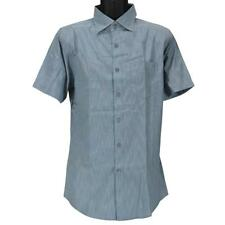 Oakley 401049 Casual Shirt Size L Large Blue Stripe Short Sleeve Button Up Top