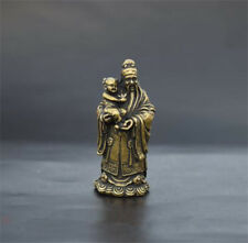 Collection archaize brass god of wealth hug child small statue