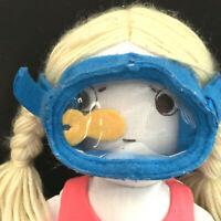 "Pottery Barn Kids Designer ""Manina"" Snorkel Girl Soft Doll Long Legs Arms"