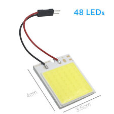 2Pc 12V Xenon HID White COB LED Dome Map Light Bulbs Car Interior Panel Lamp T10