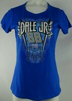 #88 Dale Earnhardt Jr. Nascar Women's Blue Short Sleeve T-Shirt