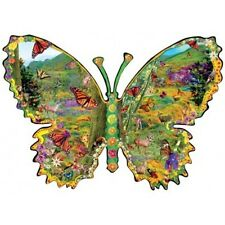 SUNSOUT SHAPED PUZZLE MONARCH MEADOW ALIXANDRA MULLINS 1000 PCS BUTTERFLY #95750
