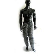 Grey Hairy Pants Monster Werewolf Legs Gray Furry Adult Animal Halloween Costume