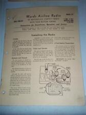Vtg Wards Airline Operation/Service Manual~93WG-562 Radio~Original
