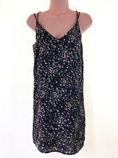 TOPSHOP abstract animal print crepe strappy sack tunic mini dress size 4 petite