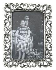 Clayre&Eef Bilderrahmen silber Perlen Fotorahmen Rahmen Vintage 10x15 cm 51849