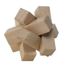 Fun Wooden Activity Brain Teaser Challenge Gift Stocking Filler Cotton Bag