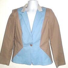 Lafayette 148 New York Women's 10 Periwinkle Tan Stretchy Blazer Free Shipping