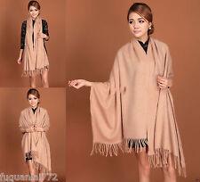 Fashion Women's Camel Winter Warm Soft 100% Cashmere Pashmina Shawl Scarf Wrap