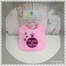 my First christmas metallic bauble baby any nam personalised girls bib vest grow