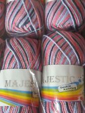 5  100g Majestic DK knitting wool